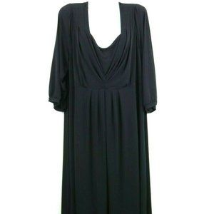 Style Co Womens Dress 3/4 Sleeve Layered V Neck 2X